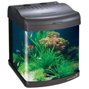JBJ Nano Cube Aquarium with (2) Nite-Vu LED Moonlights
