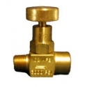 1/4 inch brass No Shock needle valve with FPT and MPT threads